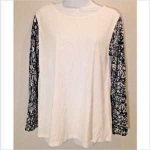 G9C United Knitwear Womens M Black & White Top
